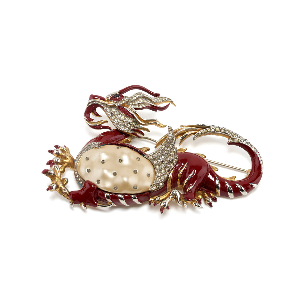 Vintage Trifari Brooch dragon xxx