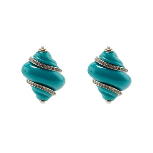 Earrings Shells in Colour