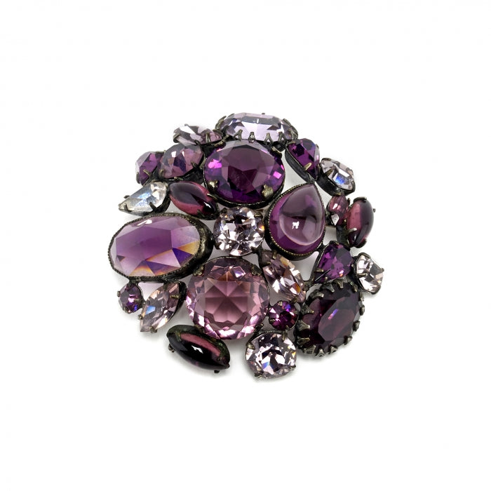 Brooch Vintage Purple