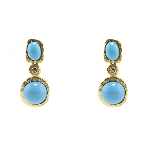 Cabochon Duet Earrings