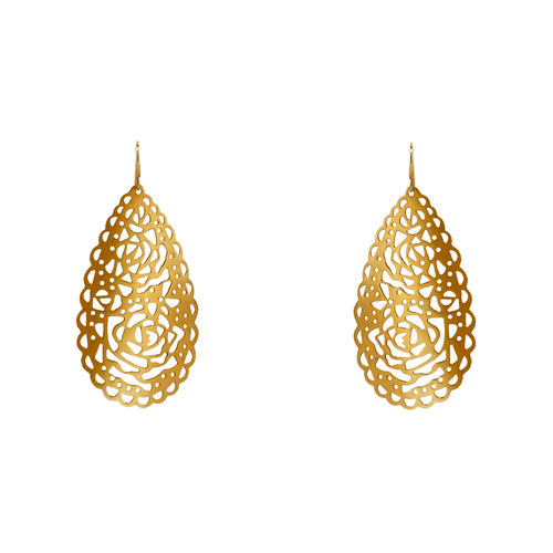 Earrings Gold Lace