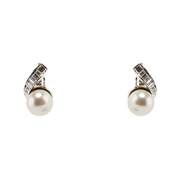 Earrings Baguette and Pearl