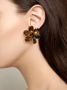 Topaz Flower Earrings