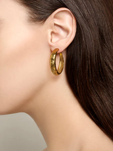 Golden Hoop Earrings