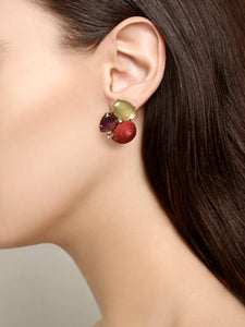 Semi-Precious Earrings shell and stones