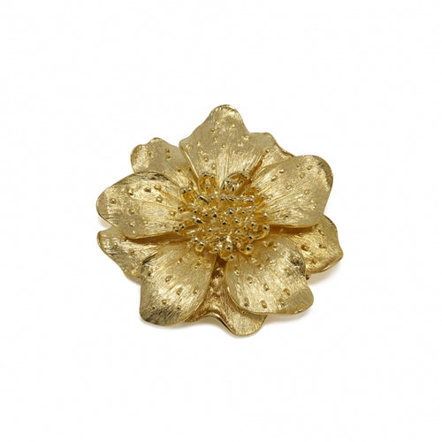 Brooch Golden Flower