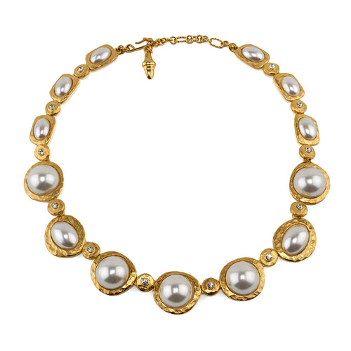 Necklace Cabochon Pearl Collar