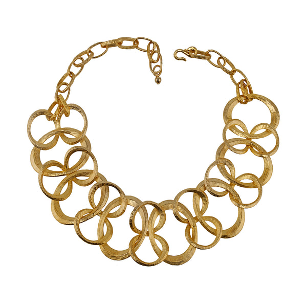 Necklace Gold Linked Circles