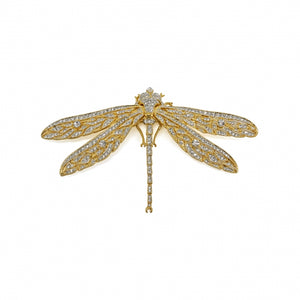Brooch Crystal Dragonfly