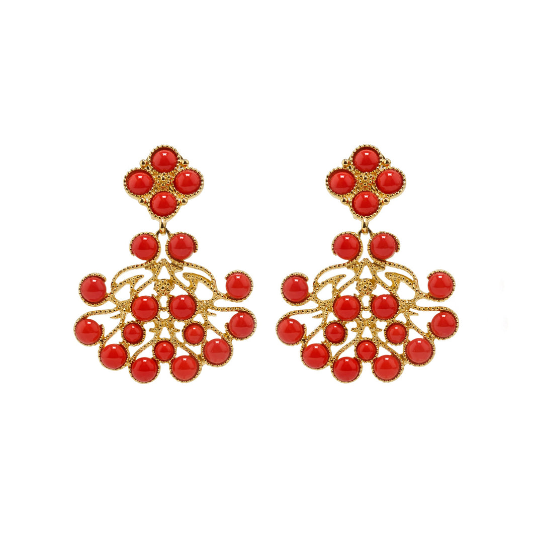 Earrings Sofia in Coral