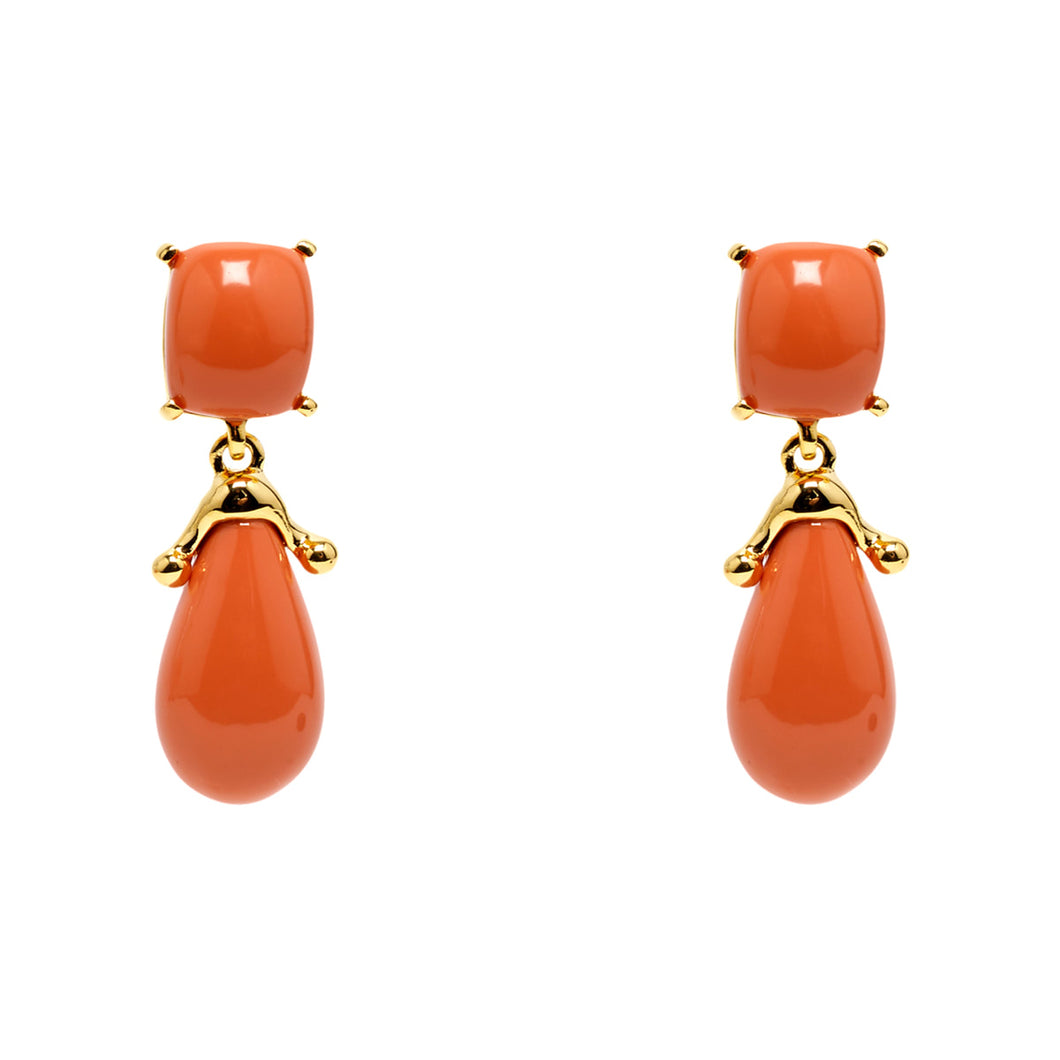 Earrings Coral Drops