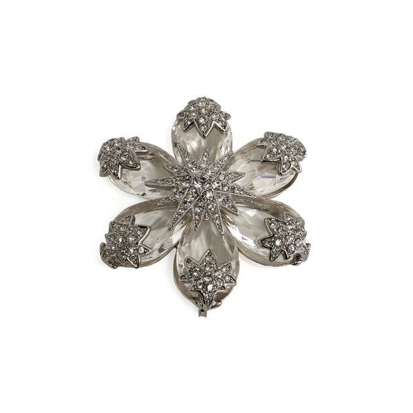 Brooch Flower Crystal