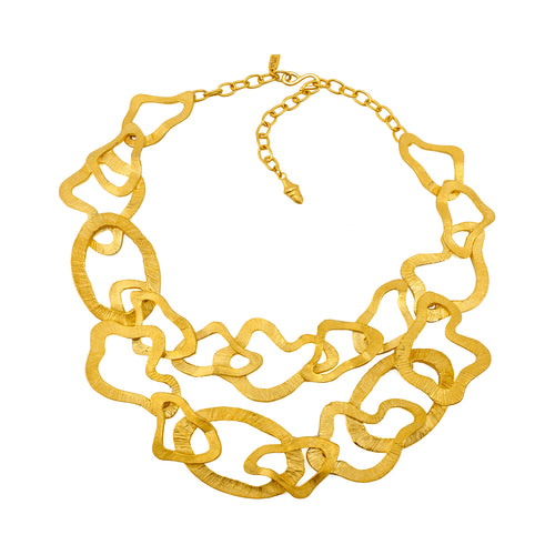 Necklace Golden Duet