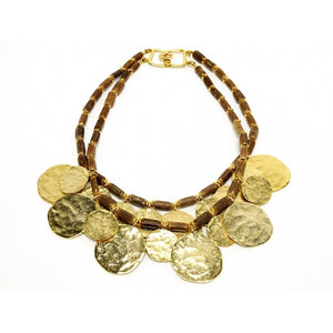 Necklace Golden Discs Encore