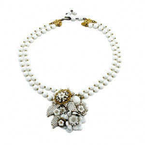 Stanley Hagler Vintage White Necklace XXX
