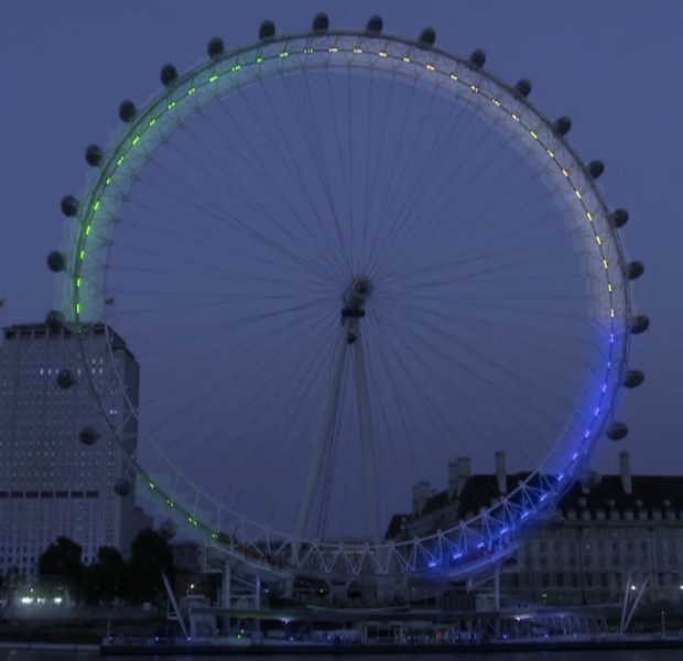 Olympics – London Eye – A Massive Mood Ring