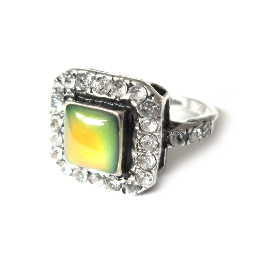 art deco style mood ring