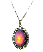 Load image into Gallery viewer, Victorian style mood pendant necklace