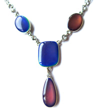 Load image into Gallery viewer, bronze mood necklace with various colors