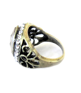 mood ring with intricate pattern