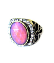Load image into Gallery viewer, mood ring showing a pretty pink mood