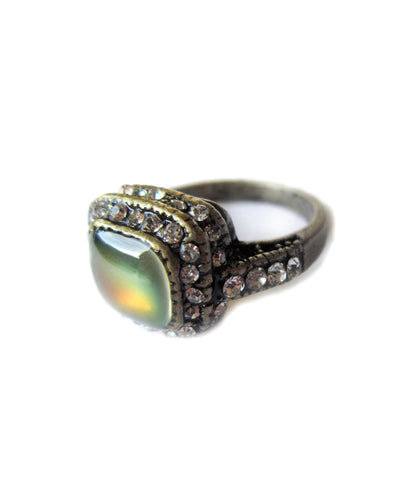 bronze mood ring with stones