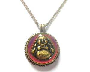 Buddha Bronzed Mood Necklace