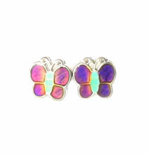 Load image into Gallery viewer, child butterfly mood earrings by best mood rings