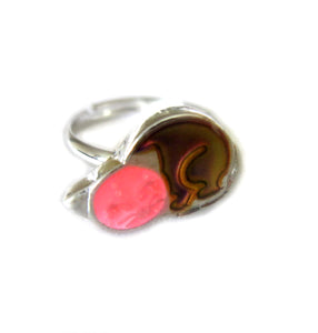 Cat Mood Ring with Glow in Dark Effect