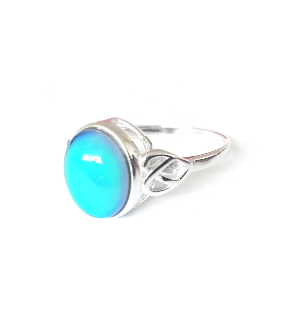 a celtic mood ring in sterling silver by best mood rings