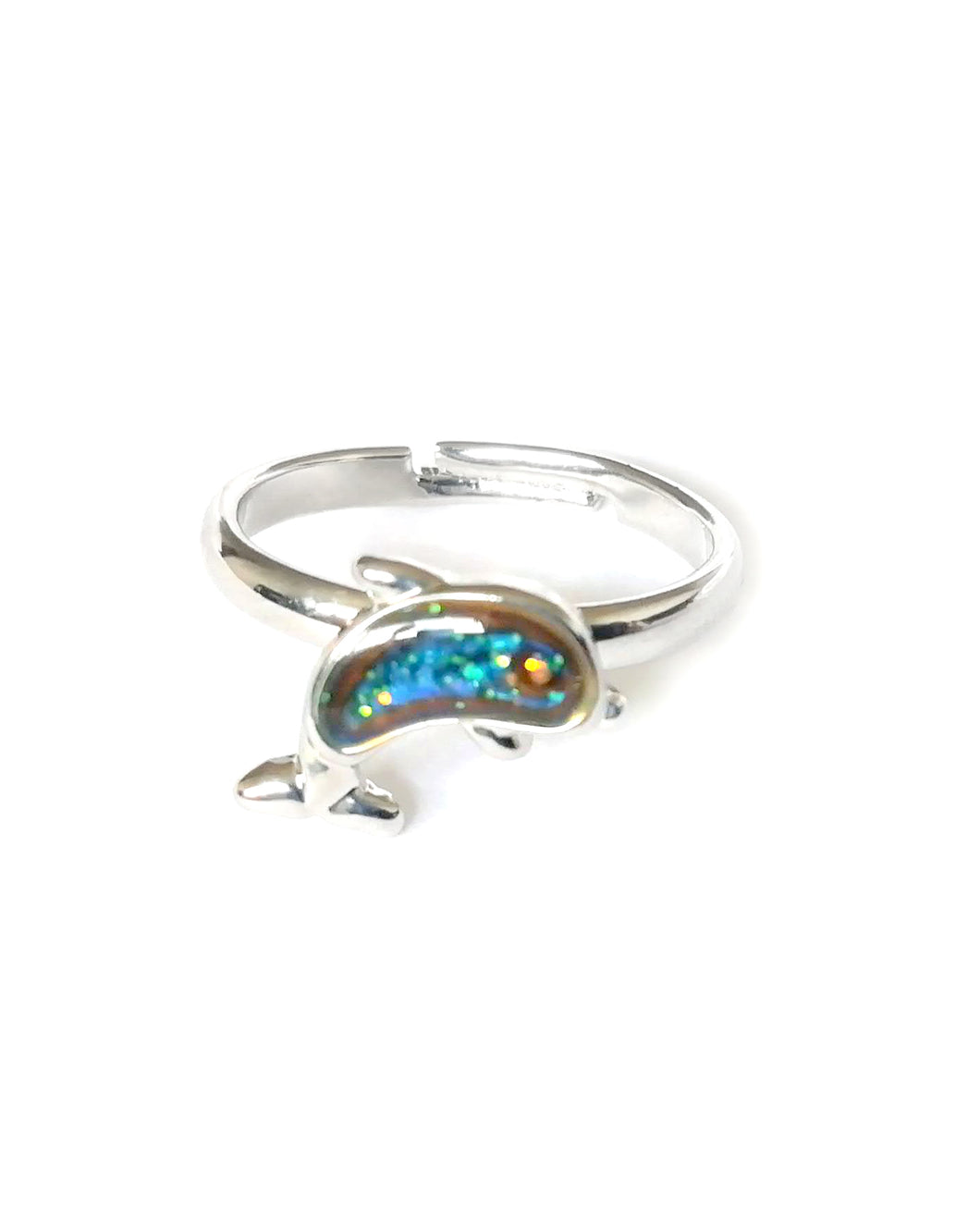 a dolphin mood ring in a child size