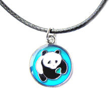 Load image into Gallery viewer, child mood necklace with a cute panda