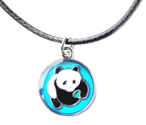 child mood necklace with a cute panda