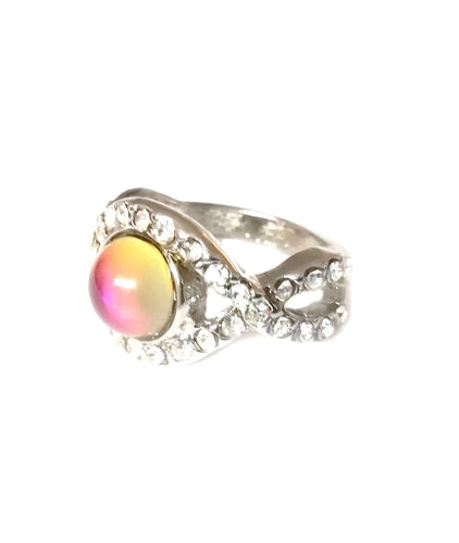 a mood ring with stones around the edges by best mood rings
