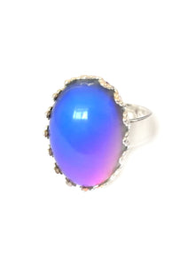 mood ring with purple mood color meaning turning pink by best mood rings