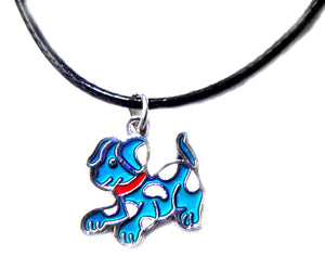 dog mood pendant with blue mood