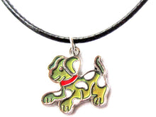 Load image into Gallery viewer, dog mood pendant on black cord