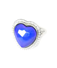 Load image into Gallery viewer, a mood ring with blue mood color meaning