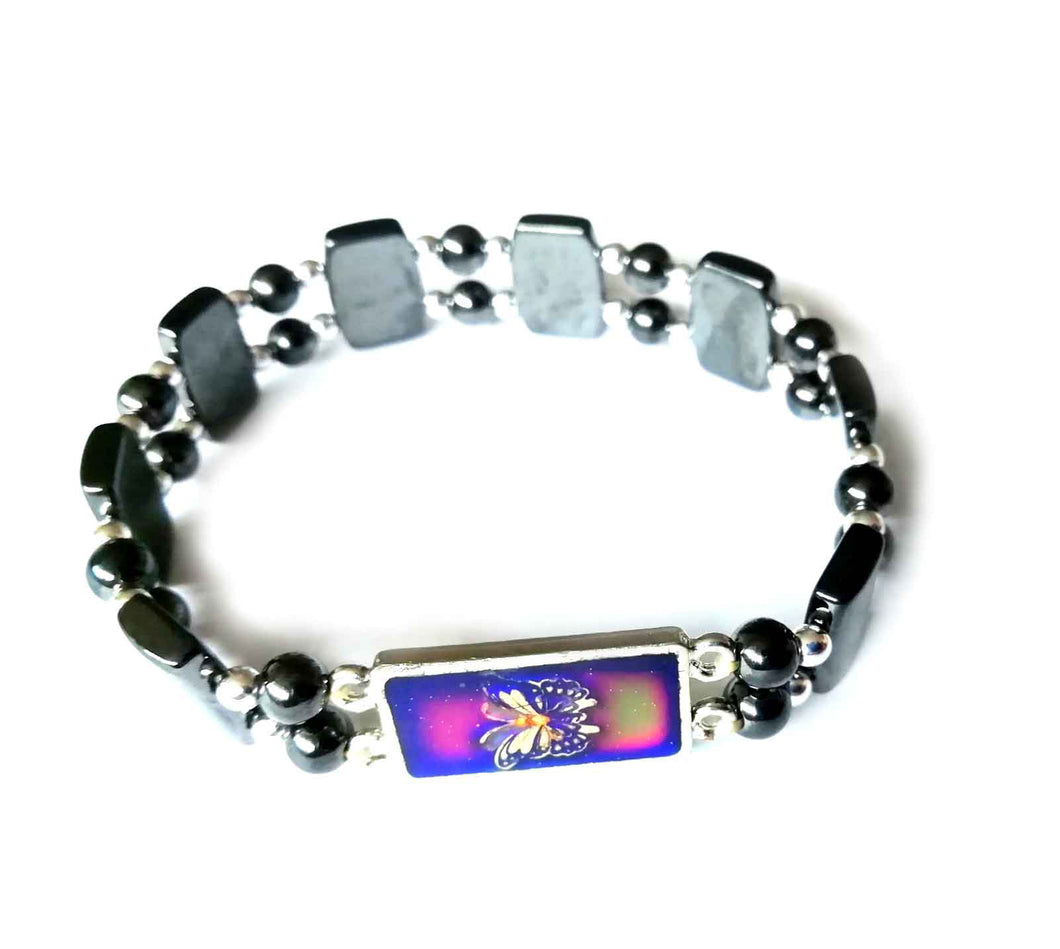 a magnetic butterfly mood bracelet by best mood rings
