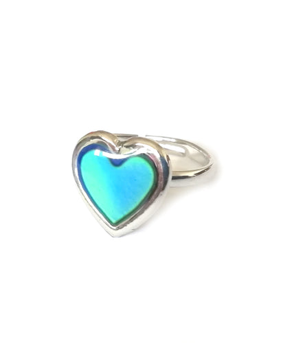 a heart shaped mood ring for children