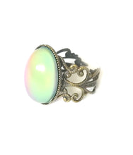 Load image into Gallery viewer, bronze mood ring with green color meaning by best mood rings
