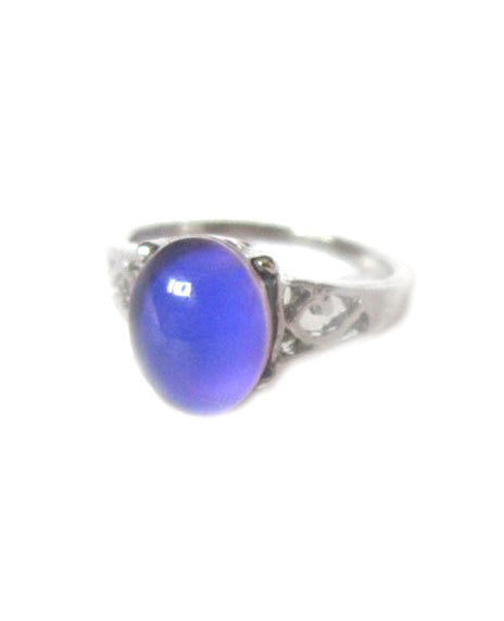 mood ring with a purple mood color