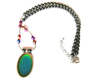 magnetic hematite healing mood necklace by best mood rings