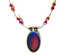 Load image into Gallery viewer, oval magnetic hematite mood necklace with healing properties