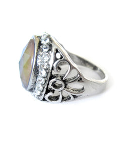 mood ring with intricate design