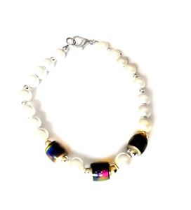 pearl style magnetic mood bracelet by best mood rings