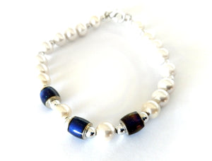 Pearly Magnetic Mood Bracelet
