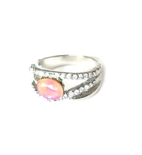 Load image into Gallery viewer, beautiful band mood ring with an oval stone and stones