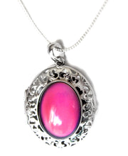 Load image into Gallery viewer, sterling silver mood pendant locket with a silver chain