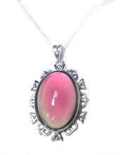 Load image into Gallery viewer, a sterling silver mood pendant on a silver chain